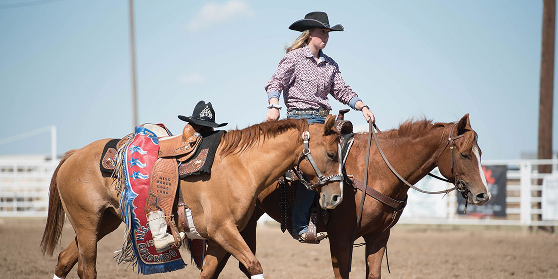 A tribute paid to Lori Shalberg who passed away in 2018 at the Kiowa County Fair and Rodeo