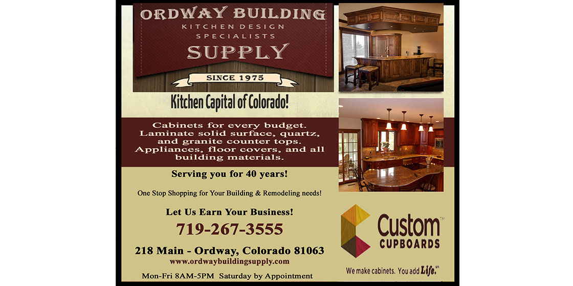 Ordway Building Supply - Indy Picks for the Kiowa County Newspaper